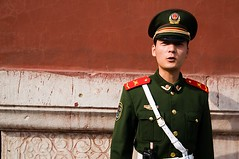 Guarding the Forbidden City (Eric Wolfe) Tags: china red people wall uniform paint beijing police forbiddencity guards chn original:filename=200803150074jpg