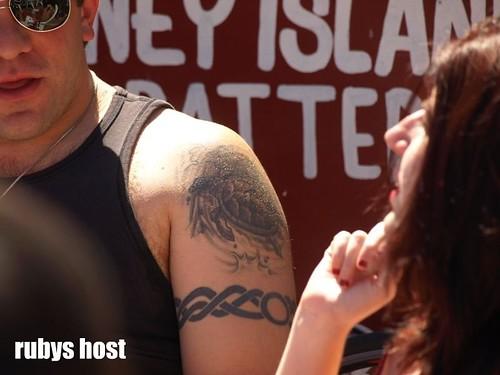Shoulder & Barb wire tattoo