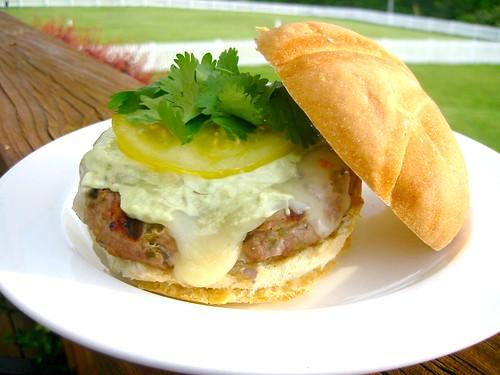 Salsa Verde Turkey Burgers