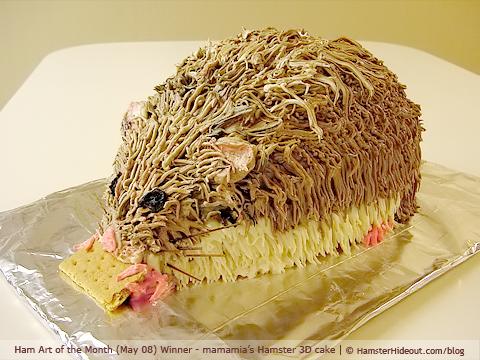 Hamster 3D cake
