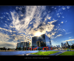 EXPLOSION :: HDR (:: Artie | Photography ::) Tags: sky sun sunlight reflection building architecture clouds photoshop canon mirror cs2 explosion australia melbourne wideangle victoria structure handheld 1020mm hdr customs customshouse artie dockland 3xp sigmalens photomatix customsoffice customsbuilding tonemapping tonemap digitalharbour port1010 400d rebelxti