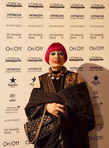 Zandra Rhodes at the Oxfam #fashionfightingpoverty Gala Show