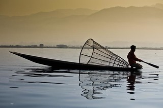 Morning on Inle lake - Myanmar