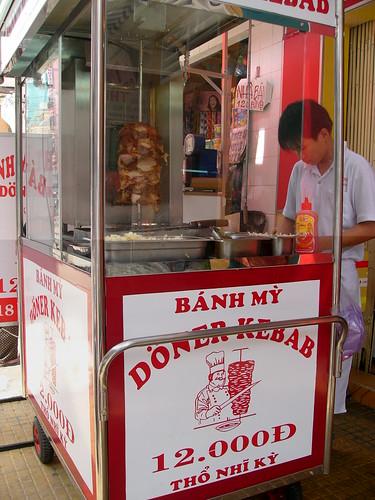 Bán thanh lý 05 bộ gồm cả xe và lò nướng Doner Kebab hàng ngoại nhập
