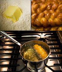 koeksisters (zinkwazi) Tags: food kitchen collage junk nikon sweet sugar stove butter doughnut oil pan d200 flour fried 2007 southafrican allclad bokke koeksister koeksisters