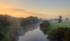 Sunrise (flash of light) Tags: morning autumn england mist english fog sunrise river landscape geotagged dawn searchthebest severn worcestershire soe worcester supershot platinumphoto impressedbeauty diamondclassphotographer flickrdiamond geo:lat=52162942 geo:lon=2217672