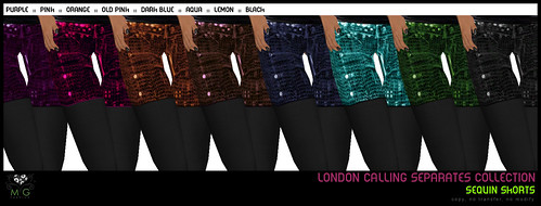 [MG fashion] London Calling Separates Collection - Sequin shorts