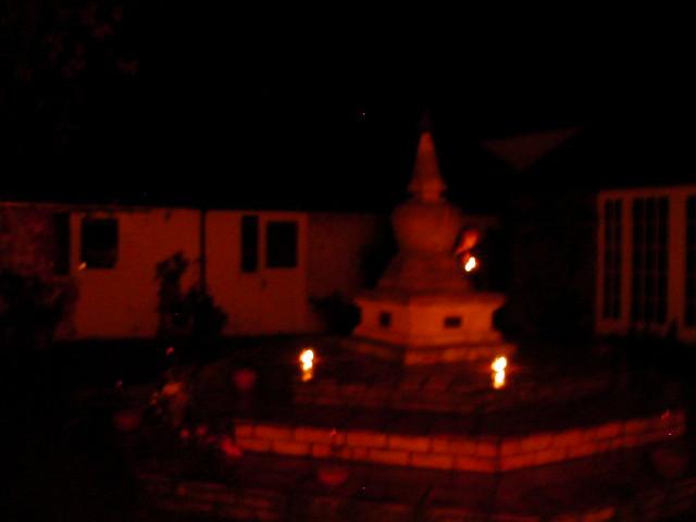 Stupa courtyard at night
