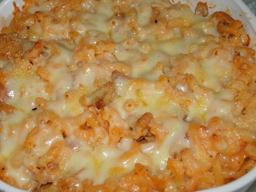 bake macaroni cheese/pasta
