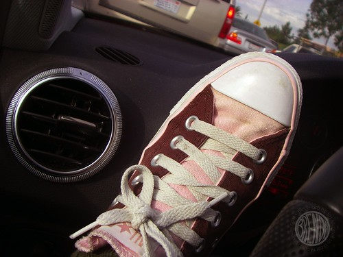 shoes in traffic