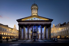 Gallery of Modern Art (gms) Tags: christmas xmas building statue architecture lights scotland gallery glasgow classical royalexchangesquare palladian trafficecone moderart