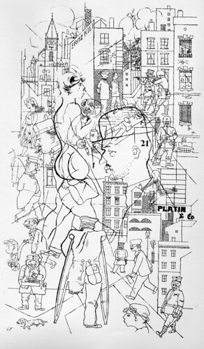 """Cross Section"" by George Grosz, 1920"