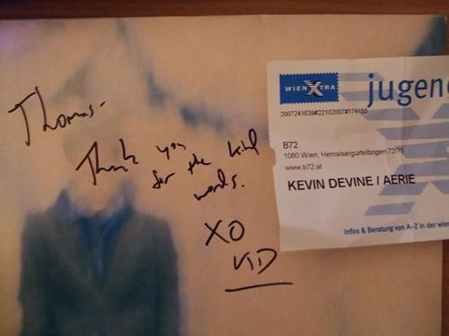 Signed Kevin Devine LP
