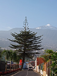 The first snows of the year on Mount Teide