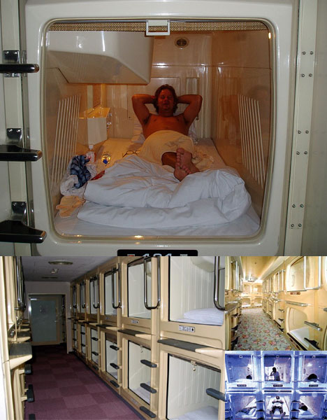Bizarre Capsule Hotel Rooms