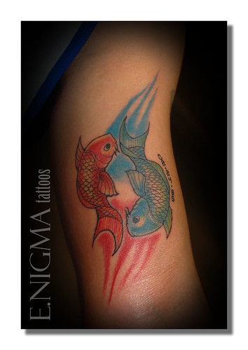 Labels: Colorful Pisces Tattoo