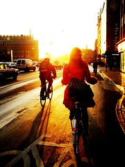Winter Morning* (Mikael Colville-Andersen) Tags: girl fashion bicycle backlight copenhagen style gear cycle bikelane chic   bikeporn streetfashion     streetstyle girlsonbikes  backsight cyclechic speed backlightaciousness copenhagencyclechic fixedgearissoooolastcentury chic advocacy velopassioncc