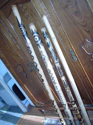 Vendo, feitos por mim, Didjiridus de Bambu