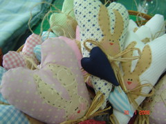 Coraes de coelho (armazm do quilt) Tags: corao coelho sachet