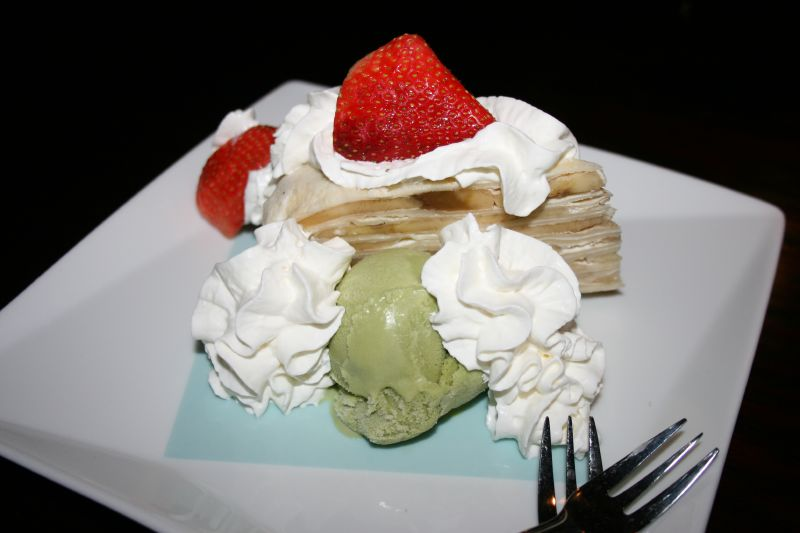 Mil-Crepe with Green Tea Ice Cream