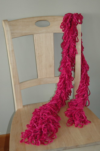 finished loopa scarf