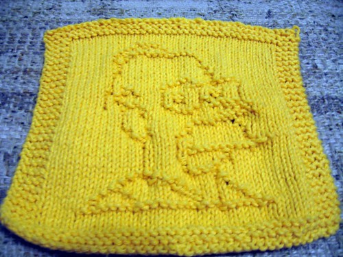 D'oh Dad Washcloth finished