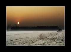 Porridge for Breakfast (dougchinnery.com) Tags: copyright orange sun field sunrise ball photography frost glow photographer doug border frosty frame footpath nottinghamshire worksop chinnery carltoninlindrick thefatcat44 proudlychopped wigthorpe