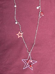 Long Beaded Chain Necklace With Star Details