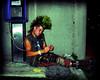 Phone Punk  #2 (Scottspy) Tags: colors portraits lomo saturated streetphotography kansascity mohawk kc punks scottspy latenightphotography
