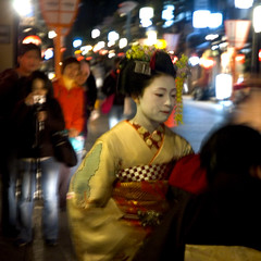 real maiko (Paul Hillier Photography) Tags: japan spring kyoto maiko sakura gion takahina
