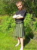 Side shot of the new kilt for PJ