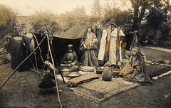 Bedouin camp in an English garden (lovedaylemon) Tags: vintage garden found costume image tent bedouin missionaries