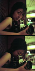 the sonnar girl (DoveVadar) Tags: 120 6x6 film zeiss mediumformat singapore hasselblad carl 500 f28 planar 80mm portra160vc hasselblad500cm pentaconsixtl carlzeissplanar80mmf28 carlzeissjenasonnar180mmf28 dovevadar
