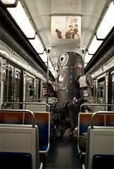 Bertie on the underground (nael.) Tags: underground subway toy tube photoediting photomontage bertie wwr dirtydeeds ashleywood photoretouching nael retouchephoto