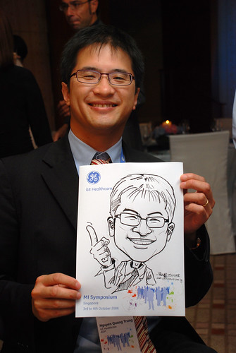 Caricature live sketching for GE Healthcare MI Symposium 1