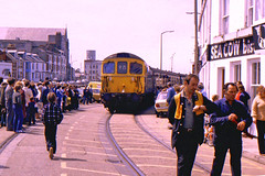 Weymouth train (clare.blandford) Tags: 35mm colour slide scan 331 weymouth dorset channel island boat train