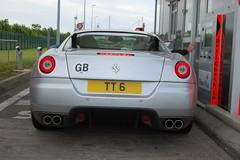 Ferrari 599 GTB Fiorano (D's Carspotting) Tags: ferrari 599 gtb fiorano france coquelles calais grey 20100613 tt6 le mans 2010 lm10 lm2010