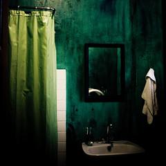 Les bains d'Helys (Christine Lebrasseur) Tags: white france green art texture 6x6 wall canon bathroom shower mirror decay towel onblack 500x500 fivestarsgallery challengeyouwinner ltytrx5 ltytr1 bofwinner bestofr thechallengefactory winner500 allrightsreservedchristinelebrasseur lesjardinsdhelys gettylicensed