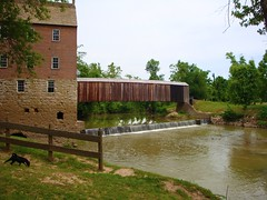 BURFORDVILLE, MISSOURI - BOLLINGER MILL* (gobucks2) Tags: statepark mill river waterfall lucy missouri coveredbridge historical 2009 whitewaterriver bollingermill burfordvillemissouri june2009 missouristatehistoricsite burfordvillecoveredbridge bollingerstatepark
