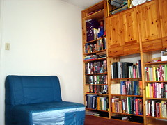 Chair and Bookshelves