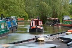 Narrowboats moored and sailing (Adrian Court LRPS) Tags: water boats miltonkeynes grandunioncanal narrowboats campbellpark