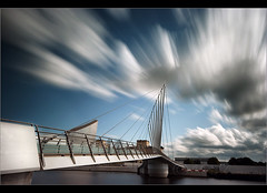 New bridge 2.. (Chrisconphoto) Tags: longexposure bridge canon manchester sigma salfordquays wideangle motionblur bbc goodlight weldingglass mediacity