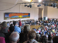 Picture of whole school assembly
