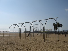 Beach Equipment and Santa Monica Pier (Wetchman) Tags: honeymoon rizzo wetjen