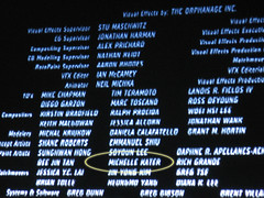 Michelle in the credits!
