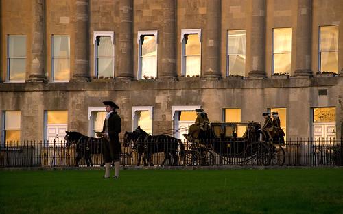 La Duquesa carroza frente palacio