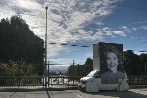 Nancy Reagan Art Car Billboard