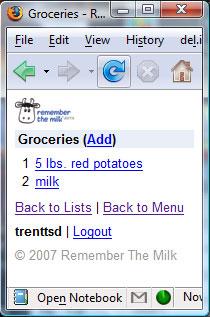 Organized 11: Remember the Milk Mobile