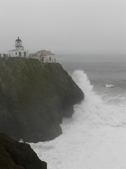 Lighthouse in the Fog (judi berdis) Tags: ca usa lighthouse marinheadlands pointbonita