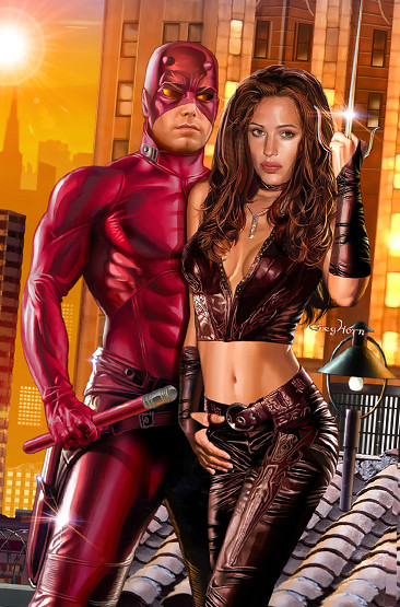 Daredevil_and_elektra by Greeeeeeeeeeg